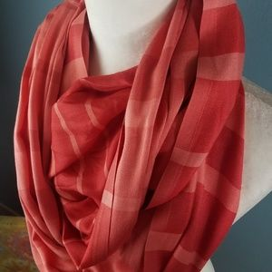 Calvin Klein red infinity scarf